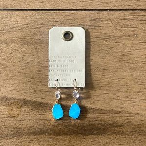 Anthropologie drop earrings with turquoise stone